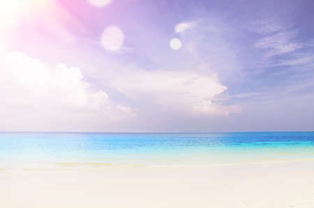 seascape: cloudy seascape at sunny day with slight lens flare