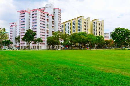 hdb: view of Singapore residential buildings