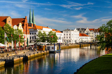 street view of Lubeck, Germany Stock Photo - 74428175