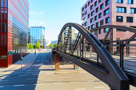 street view of Hamburg, Germany Stock Photo