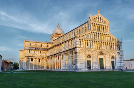 Sunset view of Pisa Cathedral, Tuscany, Italy