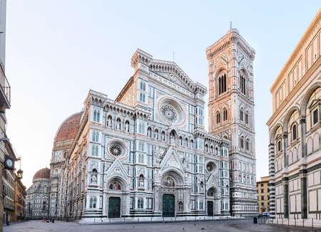 fiore: Florence Cathedral Santa Maria del Fiore sunrise view, Tuscany, Italy