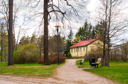 View of in park Imatra, Suomi Stock Photo