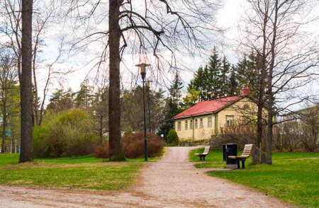 suomi: View of in park Imatra, Suomi Stock Photo