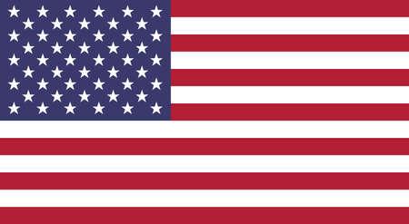 Flag of USA. Illustration of American flag 版權商用圖片