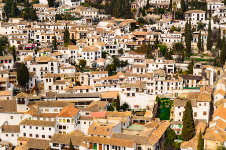 Panoramic view of Granada city against mountains, Andalusia, Spain Stock fotó - 80999365