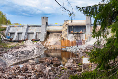 Hydroelectric power plant and dam in Imatra, Finland