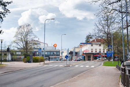 IMATRA, FINLAND - MAY 23, 2017 Day street view of Imatra
