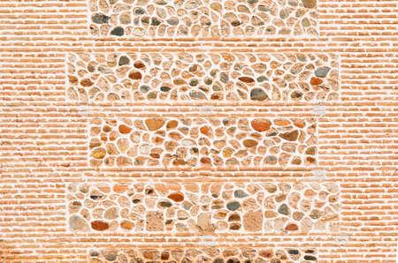 グラナダのアルハンブラ宮殿建物壁のテクスチャ