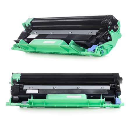 Cartridge for laser home printer isolated on white background 版權商用圖片