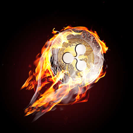 Ripple on fire. Flaming rpl coin is going up