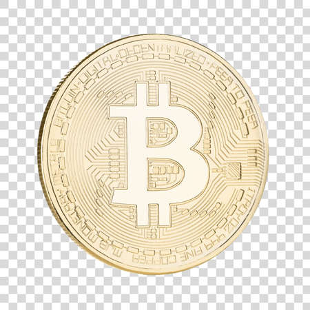 Bitcoin photo cut out with clipping path.