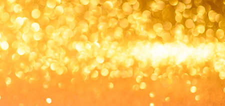 Golden Christmas or New Year festive background