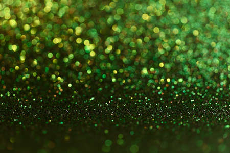 Green Christmas or New Year festive background