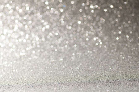 Gray Christmas or New Year festive background Stock Photo
