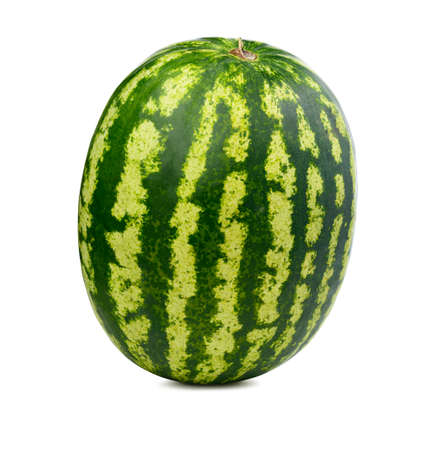 Fresh watermelon isolated. Organic water melon slice on white background.