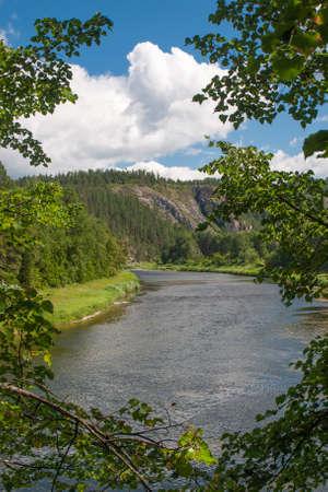 edges: Bashkiria, White river Stock Photo