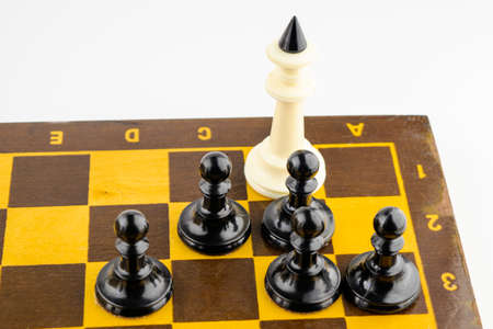 the concept, black pawns checkmate the white king