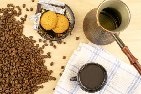Coffee, Cookies Chocolate Turk on the Table
