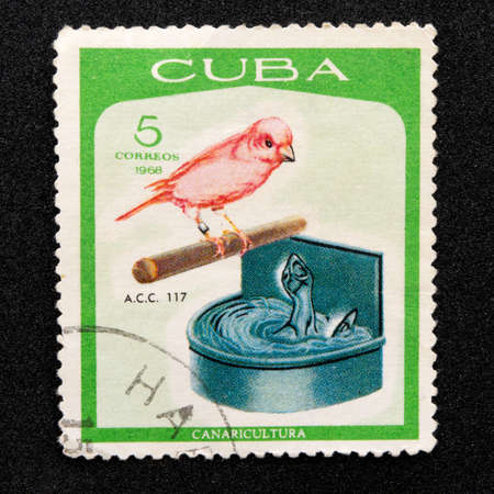 Mark of the Cuban Post, Series - Canaricultura, 1968