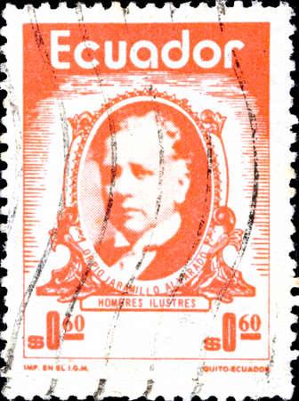 02.11.2020 Divnoe Stavropol Territory Russia Postage Stamp Ecuador 1974 Pio Jaramillo Alvarado, Sociologist framed portrait