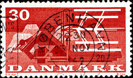 02.11.2020 Divnoe Stavropol Territory Russia Postage Stamp Denmark 1960 Agricultural Themes Agricultural Machines Combine-harvester