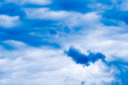 rain clouds in the blue sky for backdrop background