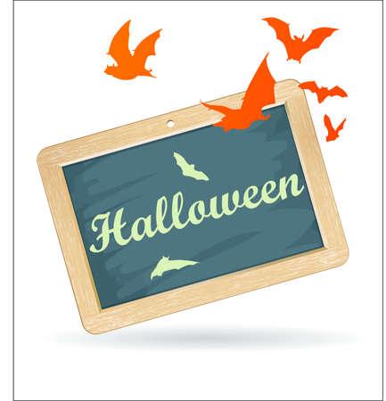eacute: panneau halloween Vettoriali