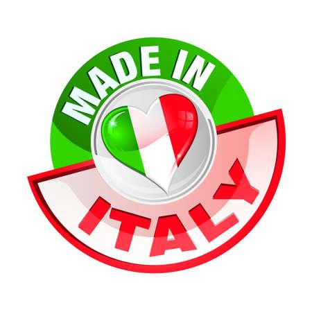 сделанный: Значок сделано в италии