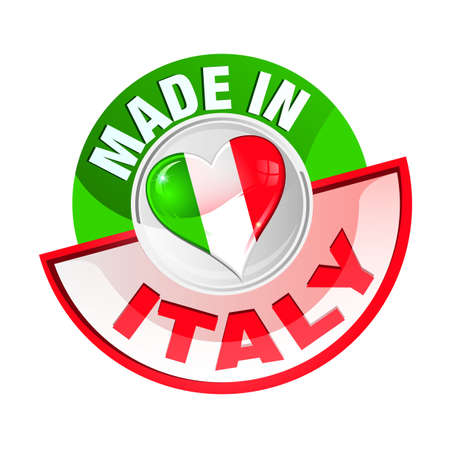 italy flag: icon made in italy