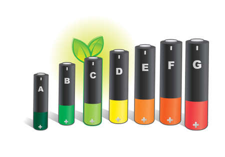 durable: green electricity - Electric consumption - battery Illustration