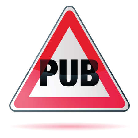 bouton pub - no pub Stock Vector - 15643702