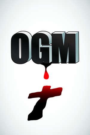 gmo: OGM-GMO Illustration