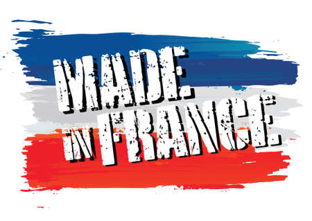french flag: flag    made in france Illustration