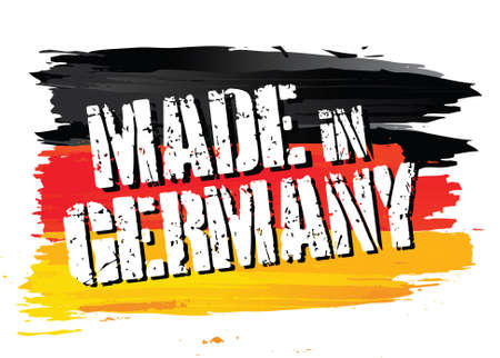 made in: flag    made in germany Illustration