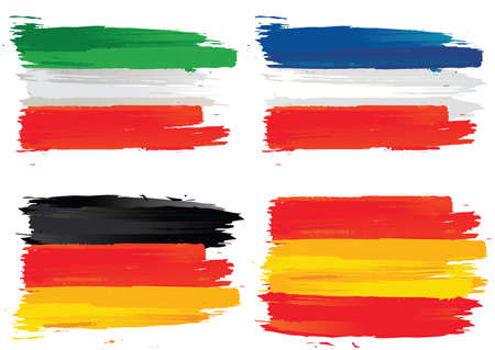 drapeaux français, italie, allemagne, espagne Vecteurs