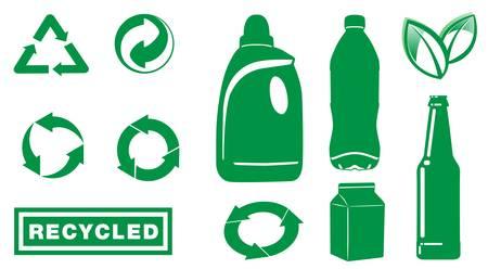 logo recyclage: picto, l'écologie affaires bouton