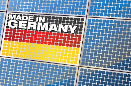 solar panel - made in germany Vector