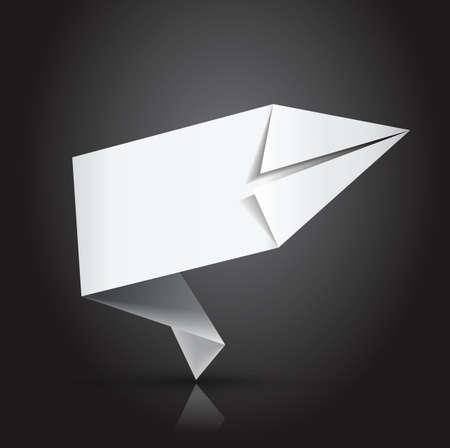 white paper label   origami Stock Vector - 16385125