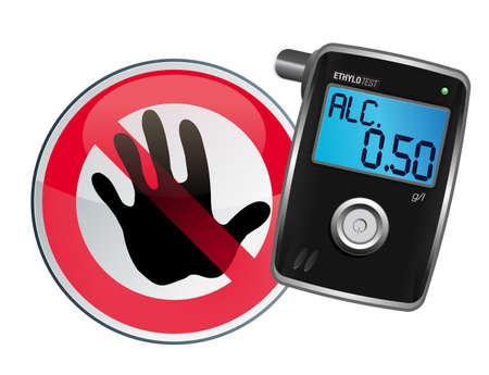 Analizador de aliento para medir el contenido de alcohol en sangre