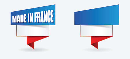 french flag   product, made in france Vector