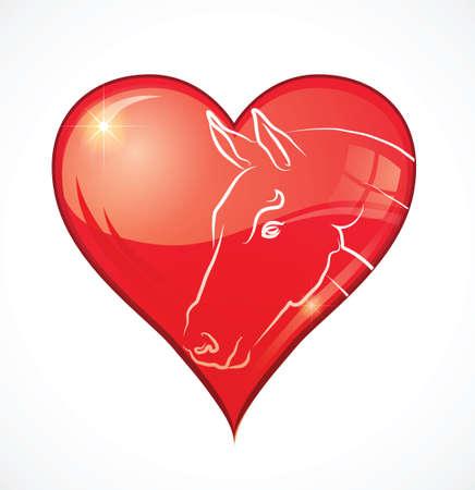 i love horses Stock Vector - 16971648