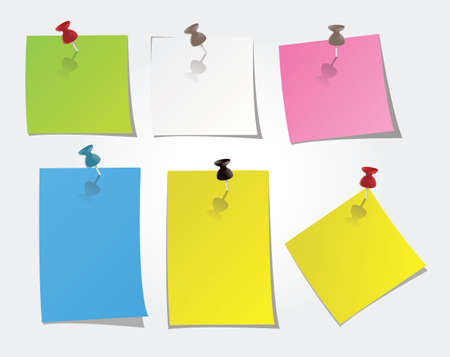 it girl: post-it, post it with adhesif paper Illustration