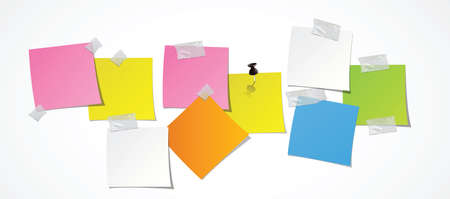 mb: post-it, post it with adhesif paper Illustration