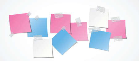 it girl: white, pink and blue post-it