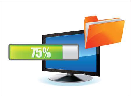 download - upload   megaupload - folder Stock Vector - 16913945