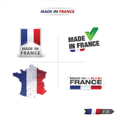 france stamp: french flag, stamp    product, made in france