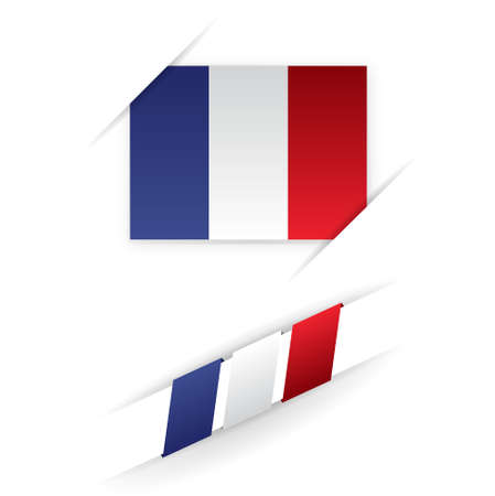 french produce: map, french flag    product, made in france