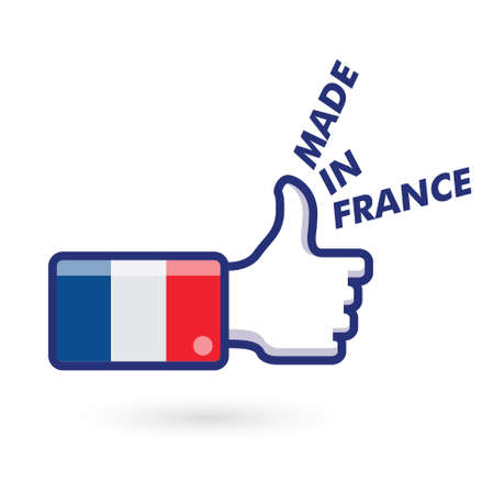 like, french flag    product, made in france Vector