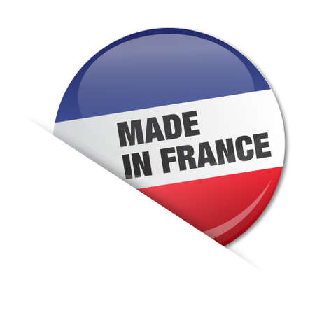 regional product: badge, french flag    product, made in france